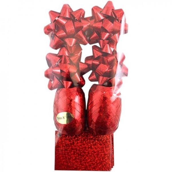 Set de ruban cadeau rouge 10 pcs.
