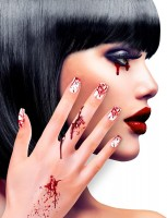 Halloween Blut-Fingernägel 12er Set