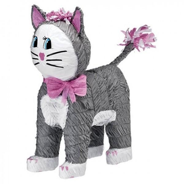 Piñata gatito gris 46cm