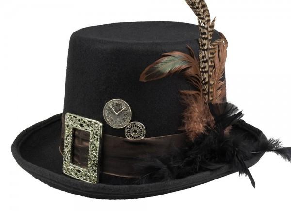 Sombrero de copa retro steampunk