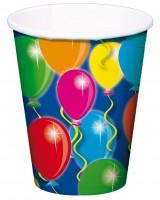 8 Spectacular Birthday Pappbecher 250ml
