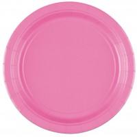 20 Pappteller Mila rosa 17cm