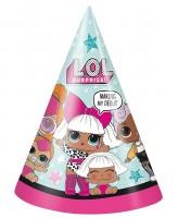 8 LOL Suprise Partyhüte 16cm