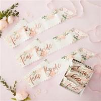 6 Rosy Bride Schärpen Team Braut