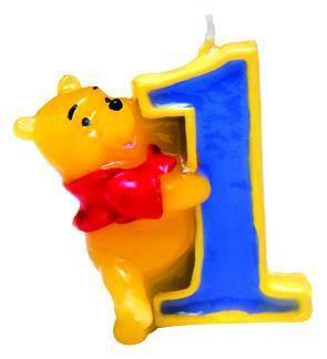 Winnie Puuh Happy Birthday Kerze 1. Geburtstag