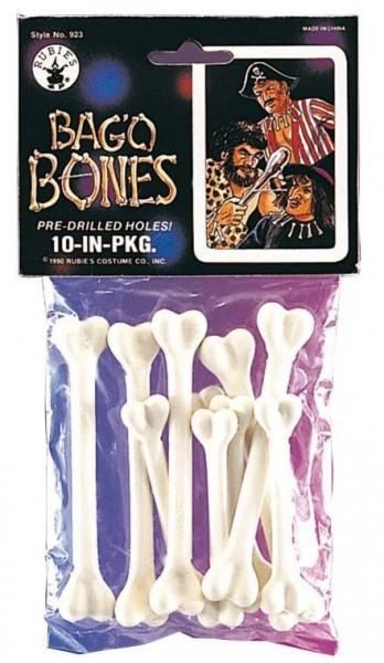 Stoff Knochen Zum Annähen 10er Set