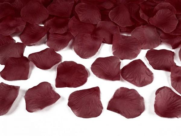 100 pétales de rose Amour bordeaux