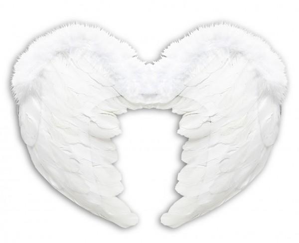Engelsflügel Mit Weißen Federn 37 x 50cm