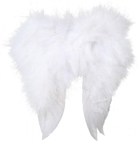 Mini alas de plumas blancas 16x16cm
