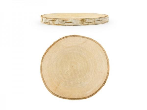 2 Holzscheiben Untersetzer Birke