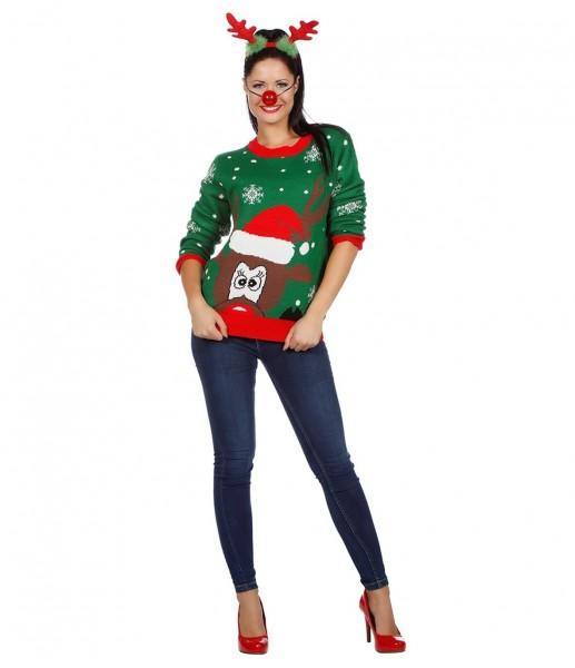 Renne maglione di Natale Rudi
