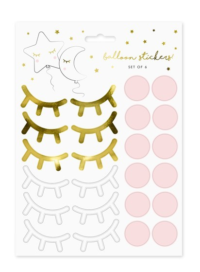 10 small star balloon stickers