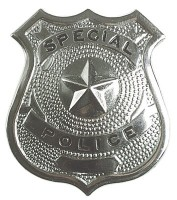 Silberne Polizei Marke