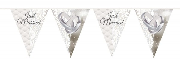 Wimpelkette Just Married 10m