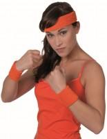 Sportliches 80er Jahre Stirnband mit Schweißbändern