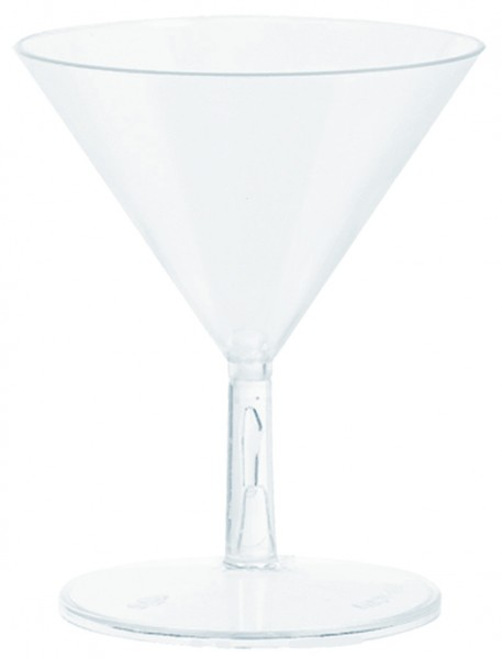 20 verres à martini transparents 59ml