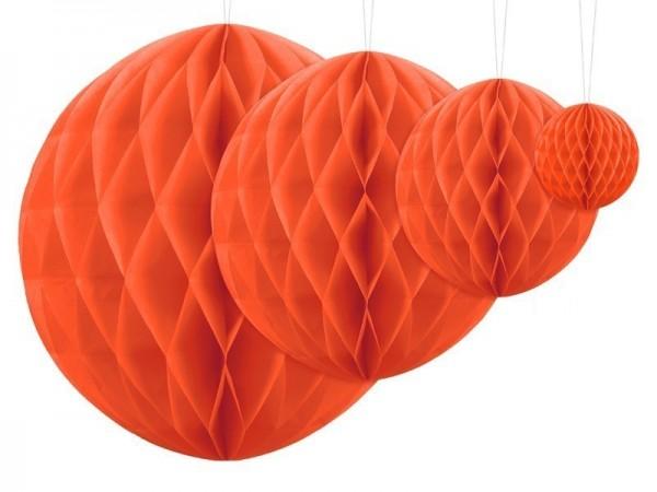 Boule nid d'abeille Lumina orange 40cm