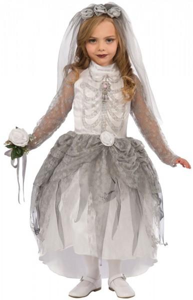 Skelett Braut Kostüm Für Mädchen
