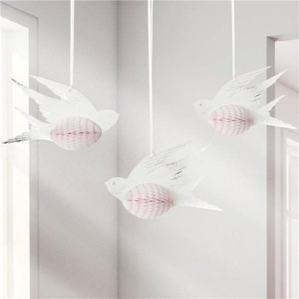 White bird honeycomb balls 15cm