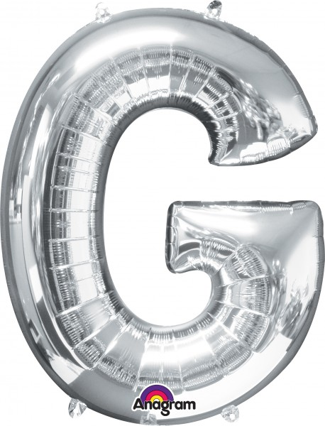 Ballon aluminium lettre G argent 81cm