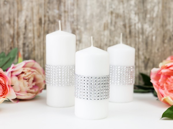 Deco lint in strass-look 9m x 4cm