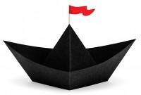 DIY Südsee Piraten Deko Papierboot
