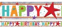 Holo Birthday Banner 2,7m