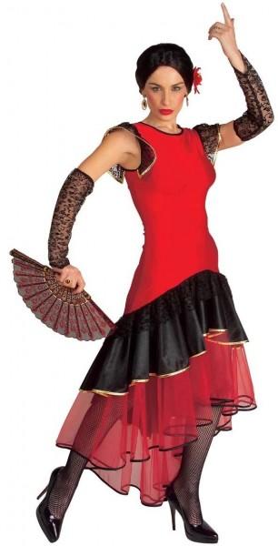 Spanisches Flamenco Damenkostüm