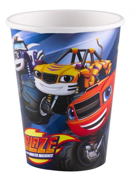 8 máquinas de papel Blaze and the Monster cups 266ml