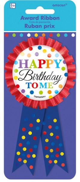Botón de cumpleaños arcoíris 14,6 cm