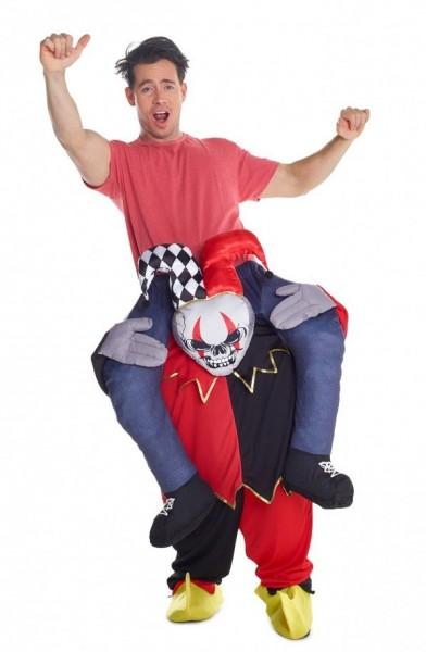 Piggyback costume horror court jester