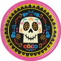 8 Dia de los Muertos Pappteller Coco