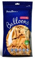 100 Partystar Luftballons sonnengelb 27cm