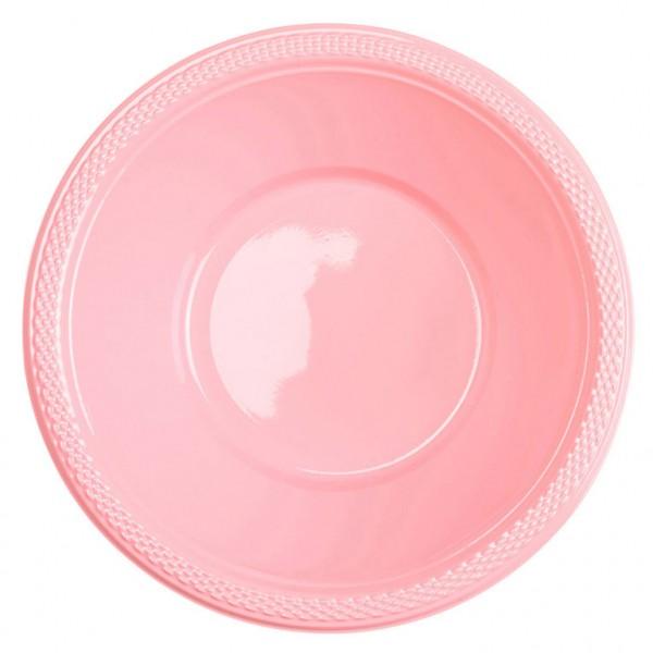 10 cuencos de plástico Mila baby pink 355ml
