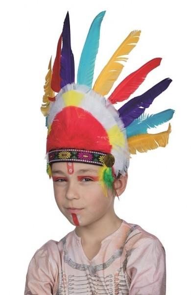 Bunter Indianer Federhut Für Kinder
