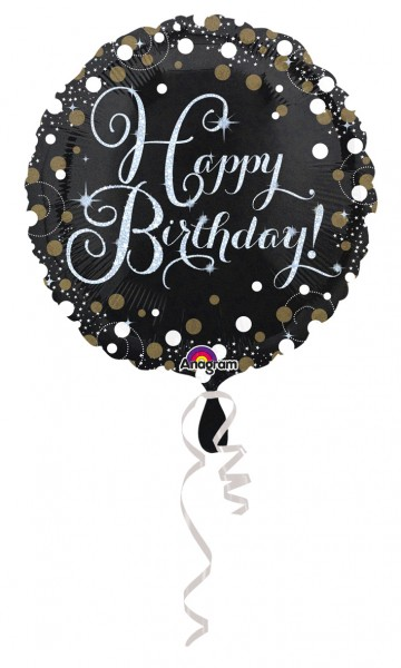 Foil balloon Sparkling Happy Birthday
