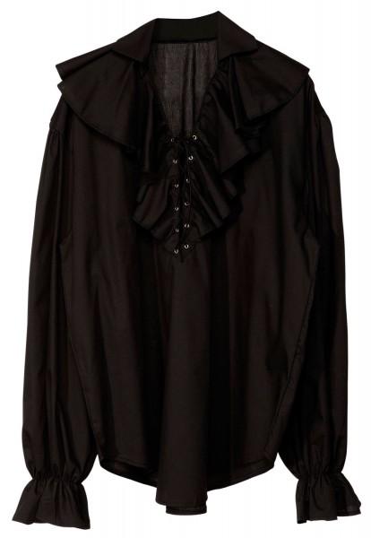 Czarna pompatyczna bluzka piracka