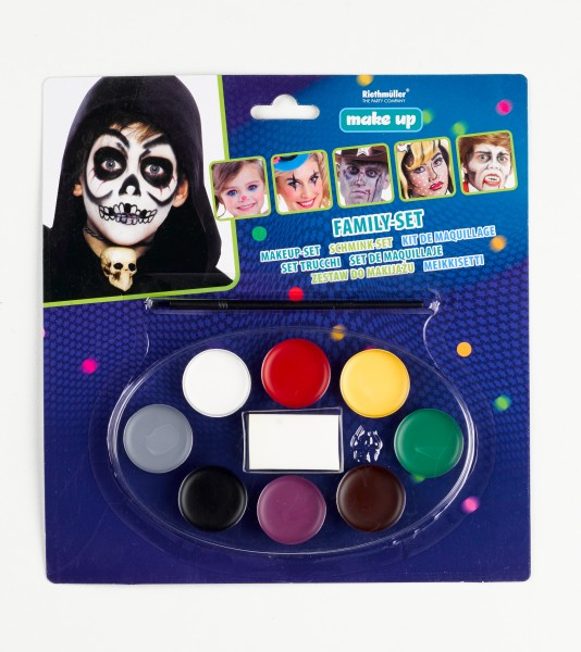Bunte Make-Up Palette Carnival Freakshow 8 Farben