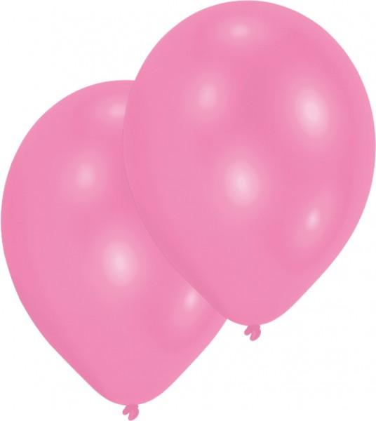 Lot de 10 ballons roses 27,5 cm