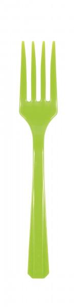 20 kiwi green plastic forks