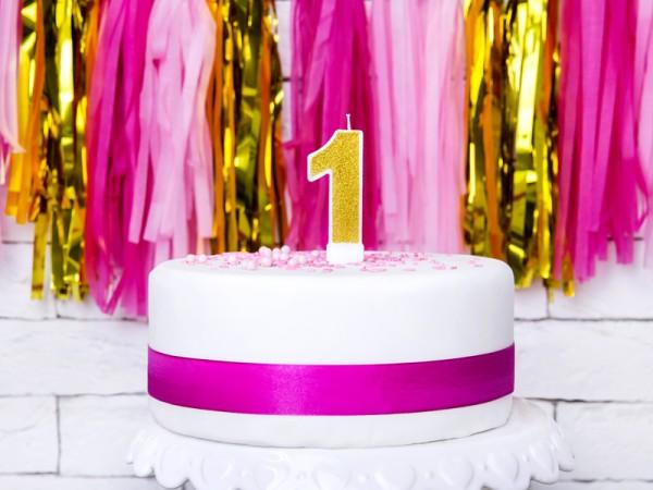 Złota świeca do ciasta nr 1