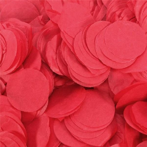 Konfetti okrągłe czerwone 100g
