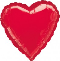 Roter Herzballon Heidi 45cm