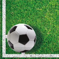 20 Fußball König Servietten 33cm