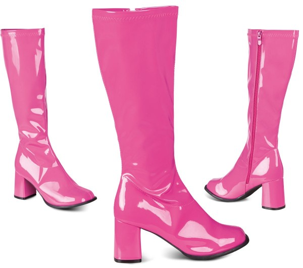 70er-Jahre Lackstiefel In Pink 1