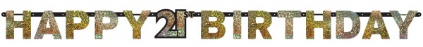 Golden 21st Birthday garland 2.13m