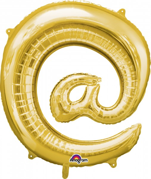 Folienballon Symbol @ gold 81cm