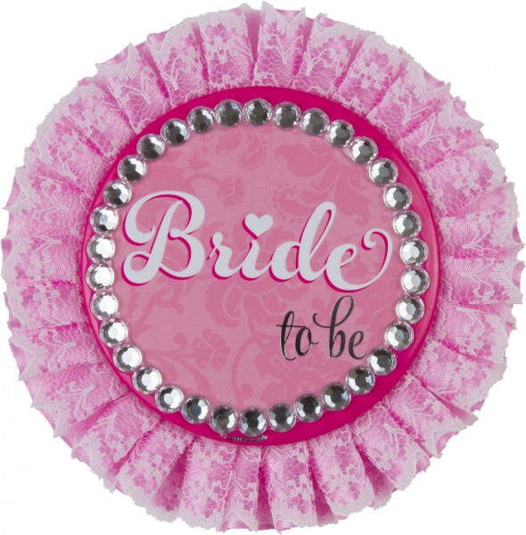 Sparkling Bride To Be Button Pink Deluxe Bachelorette Party
