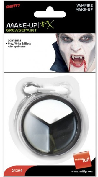 Trucco vampiro bianco grigio nero