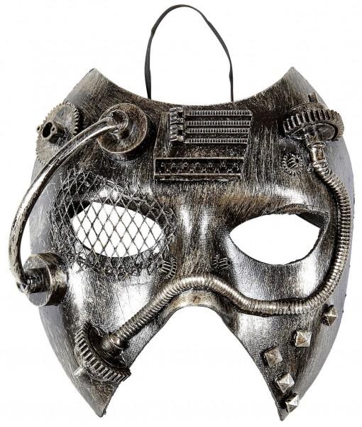 Mister Steampunk Metallic Maske